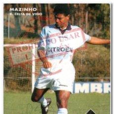 Coleccionismo deportivo: TARJETA MAZINHO CELTA DE VIGO FIRMADA. Lote 294087998