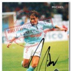 Coleccionismo deportivo: TARJETA MICHEL SALGADO CELTA DE VIGO FIRMADA. Lote 294088088