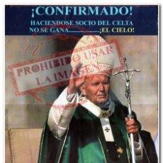 Coleccionismo deportivo: CARTEL 08-12-1998 LIVERPOOL - CELTA. Lote 294089288