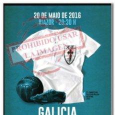 Coleccionismo deportivo: 20-05-2016. CARTEL GALICIA - VENEZUELA. Lote 294089623
