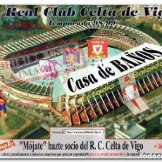 Coleccionismo deportivo: CARTEL MÓJATE - HAZTE SOCIO DEL CELTA DE VIGO. Lote 294091093