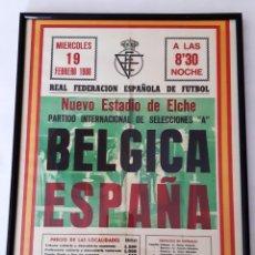 Coleccionismo deportivo: LAMINA DEL PARTIDO ESPAÑA-BELGICA. Lote 294431708