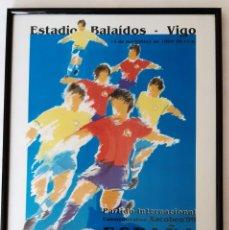 Coleccionismo deportivo: LAMINA DEL PARTIDO ESPAÑA-BRASIL. Lote 294432758