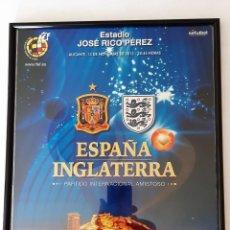 Coleccionismo deportivo: LAMINA DEL PARTIDO ESPAÑA-INGLATERRA. Lote 294434328