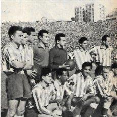 Coleccionismo deportivo: ATLÉTICO DE MADRID: GRAN RECORTE DE UN EQUIPO DE 1950. Lote 295485648