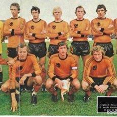Coleccionismo deportivo: SELECCIÓN DE FÚTBOL DE PAISES BAJOS (HOLANDA ): GRAN RECORTE DE UN EQUIPO DE 1978, CON JOHAN CRUYFF. Lote 295486148