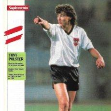 Coleccionismo deportivo: SELECCIÓN DE FÚTBOL DE AUSTRIA: MINIPÓSTER DETONI POLSTER. 1990. Lote 295486898