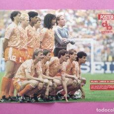 Coleccionismo deportivo: POSTER SELECCION HOLANDA CAMPEON EUROCOPA 88 - EURO 1988 ALEMANIA - NETHERLANDS REVISTA DON BALON. Lote 295489938