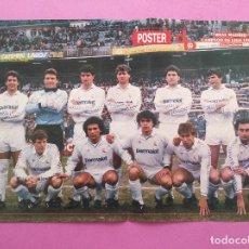 Coleccionismo deportivo: POSTER REAL MADRID CAMPEON LIGA 87/88 - REVISTA DON BALON ALINEACION 1987/1988. Lote 295490493