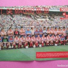 Coleccionismo deportivo: OSTER ATLETICO DE MADRID 88/89 - REVISTA DON BALON LIGA 1988 1989 PLANTILLA ATLETI. Lote 295491043