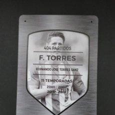 Coleccionismo deportivo: PLACA FERNANDO TORRES - ATLÉTICO DE MADRID. Lote 295525568