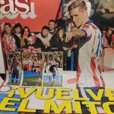 Coleccionismo deportivo: AS CARTEL PÓSTER FERNANDO TORRES ATLÉTICO DE MADRID. 60X40 CMS. VUELVE EL MITO.. Lote 296005588