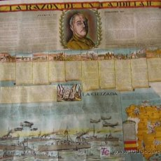 Carteles Guerra Civil: CARTEL DE PROPAGANDA DE LA ESPAÑA NACIONAL DURANTE LA GUERRA CIVIL 1936-39. CON VIÑETAS RELATIVAS A. Lote 3819384