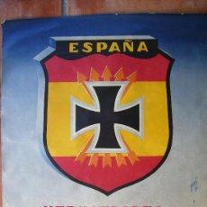 Carteles Guerra Civil: MAGNIFICO CARTEL AUTENTICO, ORIGINAL AÑOS 50DIVISION AZUL 53X48. Lote 26762199