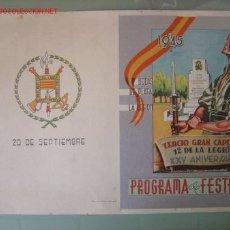 Carteles Guerra Civil: TERCIO GRAN CAPITAN - 1º DE LA LEGION - XXV ANIVERSARIO - 1945. Lote 26064837