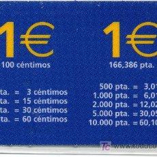 Carteles Guerra Civil: TARJETA PLASTIFICADA MONEDAS EURO. Lote 11331044