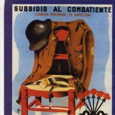 Carteles Guerra Civil: CARTELES DE LA GUERRA CIVIL - DIBUJO DE FLOS 1939 - DIMENSIONES: 28,5 X 21,0. Lote 13084709