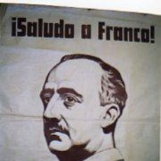 Carteles Guerra Civil: SALUDO A FRANCO. ARRIBAS. ESPAÑA. GUERRA CIVIL. NACION.ALES. Lote 25431897