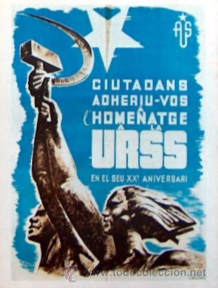 REPRODUCCION CARTEL GUERRA CIVIL 32, HOMENAJE A LA URSS, ENRIC MONENY (Coleccionismo - Carteles Gran Formato - Carteles Guerra Civil)
