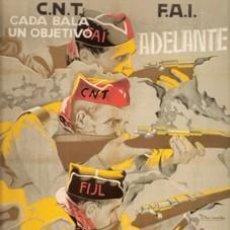 Carteles Guerra Civil: CARTEL CNT FAI COLUMNA LIBRE. GUERRA CIVIL ESPAÑOLA. CUADRO EN TABLA DE MADERA DE 40 X 28 CM. . Lote 25937056