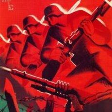 Carteles Guerra Civil: MADRID Y CATALUÑA.CATEL GUERRA CIVIL ESPAÑOLA. CUADRO EN TABLA DE 40X 28 CM. EXCLUSIVO. Lote 26512940