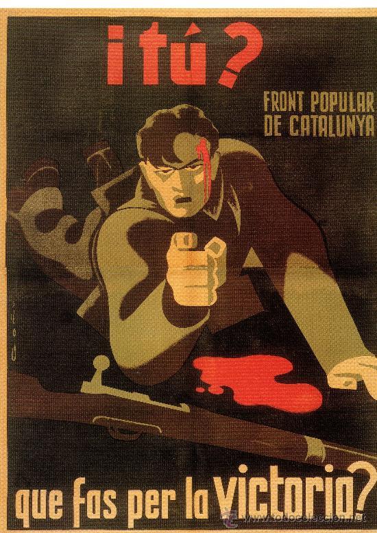 CARTELL CATALÀ GUERRA CIVIL. I TÚ? QUE FAS PER LA VICTORIA?. LORENZO GOÑI, 1936. (Coleccionismo - Carteles Gran Formato - Carteles Guerra Civil)