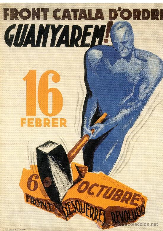 CARTELL CATALÀ GUERRA CIVIL. FRONT CATALA D'ORDRE GUANYAREM!. MORELL, 1937. (Coleccionismo - Carteles Gran Formato - Carteles Guerra Civil)