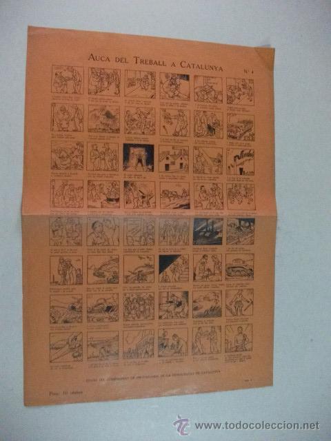 AUCA DEL TREBALL A CATALUNYA Nº 4 – GUERRA CIVIL (Coleccionismo - Carteles Gran Formato - Carteles Guerra Civil)