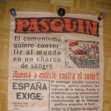 Carteles Guerra Civil: CARTEL,PASQUIN,ORIGINAL DE LA GUERRA CIVIL.BANDO NACIONAL.GRAFICAS VALLADOLID.. Lote 29288293