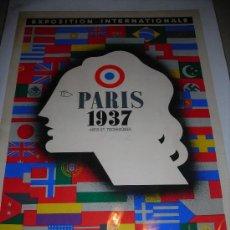 Carteles Guerra Civil: (M)CARTEL JEAN CARLU - PARIS 1937 ARTS ET TECHNIQUES, MAI - NOVEMBRE, EXPOSITION INTERNATIONALE, . Lote 29405316