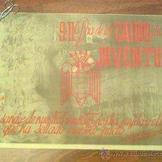 Carteles Guerra Civil: CARTEL FRENTE DE JUVENTUDES FALANGE AÑOS 40 ORIGINAL 69X50 CAIDOS EN LA GUERRA CIVIL. Lote 29580401