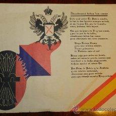 Carteles Guerra Civil: ANTIGUO CARTEL DE FALANGE TRADICIONALISTA, AÑOS 40, MIDE 43 X 31 CMS.. Lote 31306997