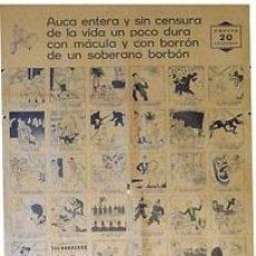 Carteles Guerra Civil: CARTEL IIª REPÚBLICA. AUCA ENTERA Y SIN CENSURA...DE UN SOBERANO BORBON.1931.CASTANYS.45X65. Lote 33266501