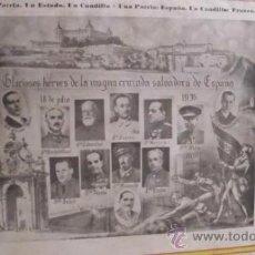 Carteles Guerra Civil: CARTEL ORIGINAL GUERRA CIVIL UNA PATRIA U ESTADO UN CAUDILLO. ZARAGOZA 1936. Lote 34258039