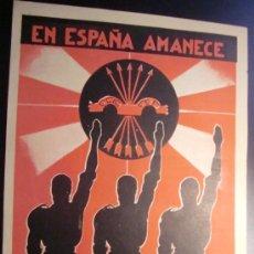 Carteles Guerra Civil: RARÍSIMO. UNO DE LOS PRIMEROS CARTELES DEL COMIENZO DE LA FALANGE. 1935.. Lote 37568094