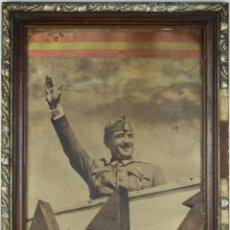 Carteles Guerra Civil: K1-006. CARTEL PUBLICITARIO DE FRANCO ARRIBA ESPAÑA . MED. S XX.. Lote 39806536