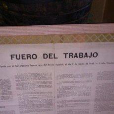 Carteles Guerra Civil: FUERO DEL TRABAJO. Lote 40643776