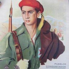 Carteles Guerra Civil: CARTEL CARLISTA - REQUETE - COLUMNA REDONDO - PUEBLOS CONQUISTADOS - BERNABE COPADO - ANDALUCIA CARL. Lote 41073077