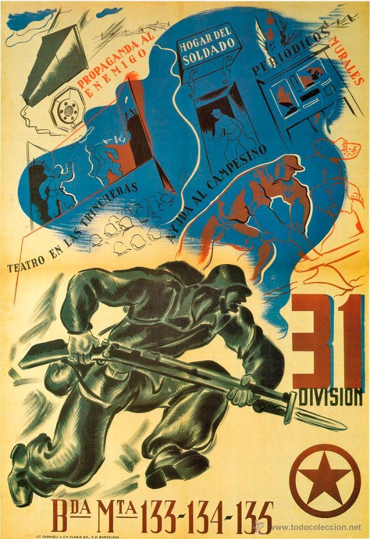GUERRA CIVIL. LÁMINA DEL CARTEL - 31 DIVISIÓN (Coleccionismo - Carteles Gran Formato - Carteles Guerra Civil)