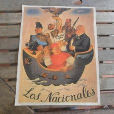 Carteles Guerra Civil: CARTEL TEMA GUERRA CIVIL 38.5 X 29 CM ARRIBA ESPAÑA JUNTA DE BURGOS LISBOA LOS NACIONALES. Lote 48335791