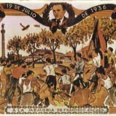Carteles Guerra Civil: CARTEL GUERRA CIVIL A LA MEMORIA DE FRANCISCO... (REPRODUCCIÓN/COLECCIÓN ED.URBIÓN).PERFECTO ESTADO.. Lote 52844852