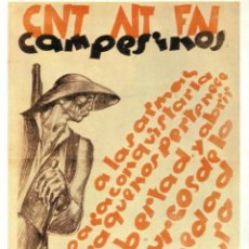 Carteles Guerra Civil - CARTEL GUERRA CIVIL * CNT AIT FAI/ ... * (REPRODUCCIÓN/COLECCIÓN ED. URBIÓN). PERFECTO ESTADO. - 60495695