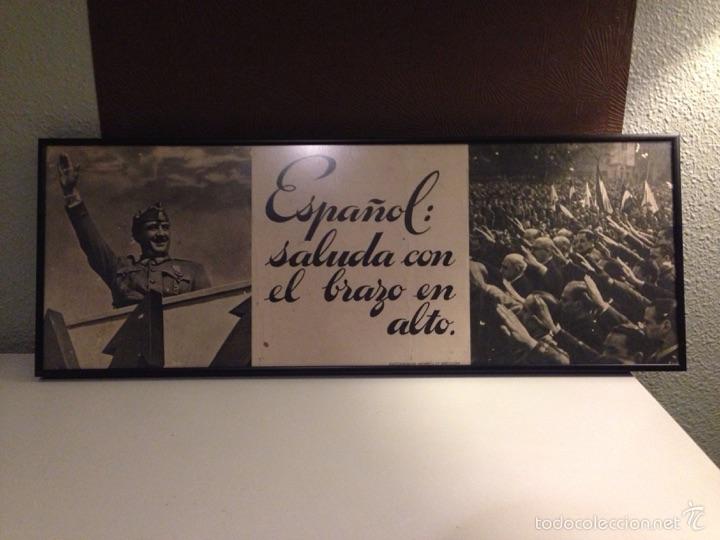 CUADRO/CARTEL, ORIGINAL DEL ALZAMIENTO (Coleccionismo - Carteles Gran Formato - Carteles Guerra Civil)