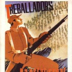 Carteles Guerra Civil: CARTEL GUERRA CIVIL * TREBALLADORS/UGT * (REPRODUCCIÓN/COLECCIÓN ED. URBIÓN). PERFECTO ESTADO.. Lote 56163241
