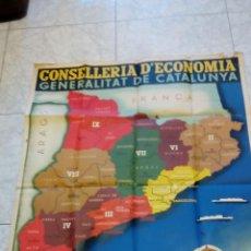 Carteles Guerra Civil: CARTEL ORIGINAL AÑO 1936 GRAN TAMAÑO GUERRA CIVIL. COMARQUES Y REGIONS DE CATALUNYA. Lote 57250801
