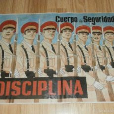 Carteles Guerra Civil: CARTEL - LOS INTERNACIONALES - CUERPO DE SEGURIDAD - DISCIPLINA -. Lote 58331386