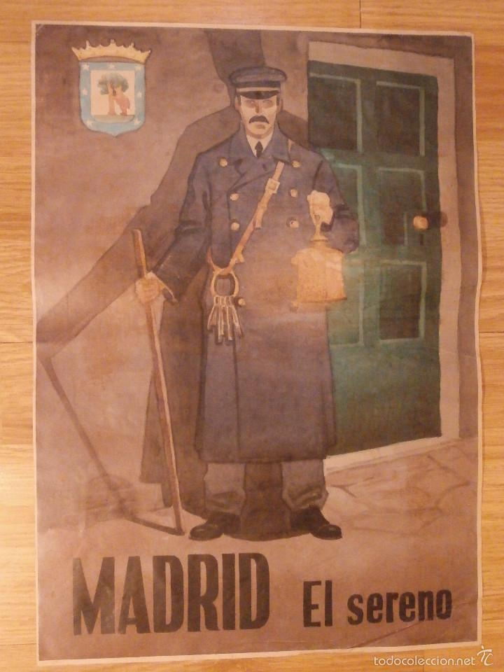 Carteles Guerra Civil: CARTEL - MADRID - EL SERENO - 42 cm x 29,5 cm.. - - Foto 3 - 58331566