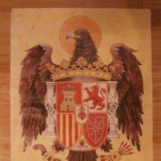 Carteles Guerra Civil: CARTEL - AGUILA - UNA GRANDE Y LIBRE - PLUS ULTRA - 42 CM X 29,5 CM.. -. Lote 114663012