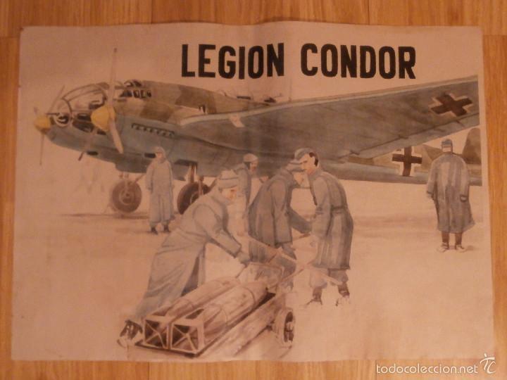 CARTEL - LEGION CONDOR - 42 CM X 29,5 CM.. - (Coleccionismo - Carteles Gran Formato - Carteles Guerra Civil)