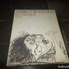 Carteles Guerra Civil: GUERRE ET REVOLUTION EN ESPAGNE 1936-1939. Lote 61997820